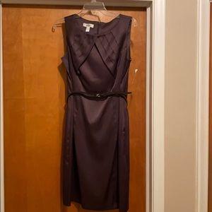 Dress Barn Chocolate Brown Belted Dress
